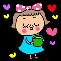 riekimのピンクドットリボンの女の子